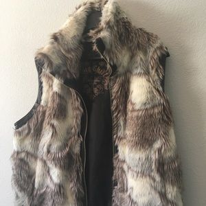 Other - Faux fur and leather vest.